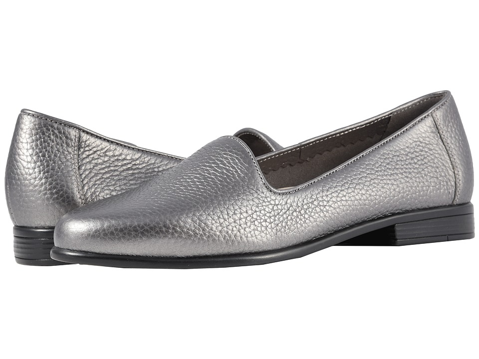 Trotters Liz Tumbled (Pewter Very Soft Tumbled Leather) Slip-On Shoes