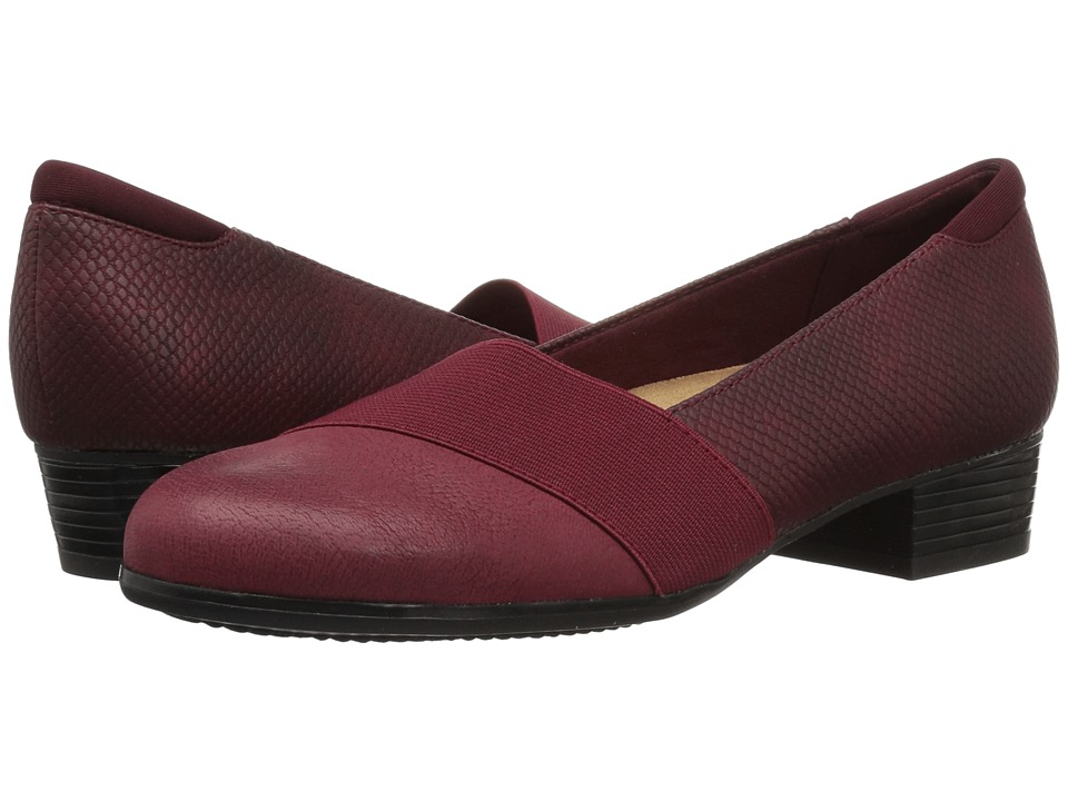 Trotters Melinda (Burgundy Casual Leather/Snake) Women's Shoes