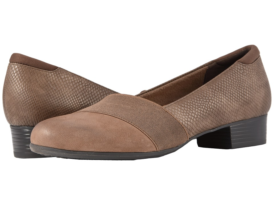 Trotters Melinda (Dark Taupe Casual Leather/Snake) Women's Shoes