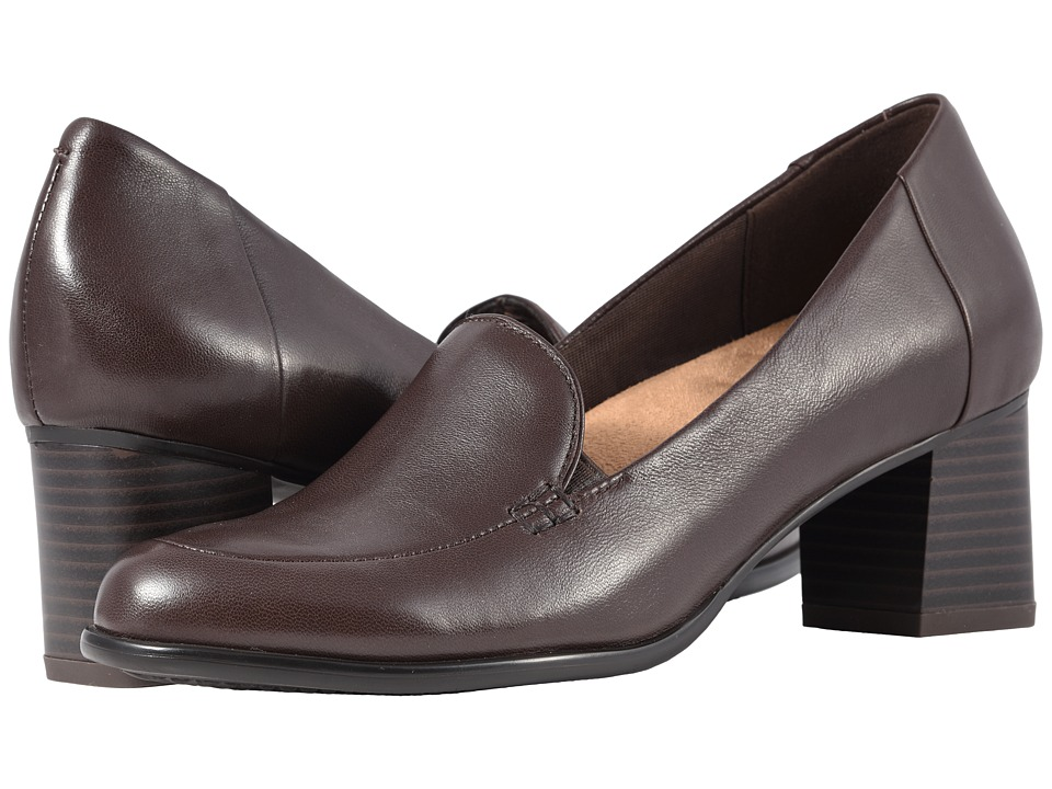 Trotters Quincy (Dark Brown Soft Nappa Leather) Women's Shoes