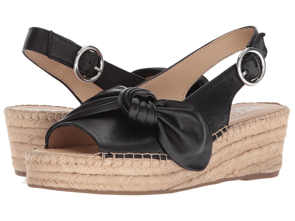 Franco Sarto Piroette (Black) Women's Toe Open Shoes