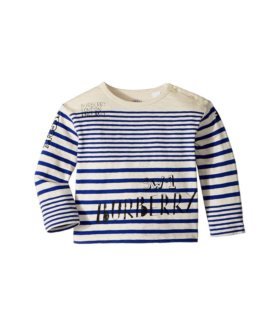 Burberry Kids - SW1 Stripe ACHAD Top (Infant/Toddler) (Bright Lapis/White) Boys Clothing