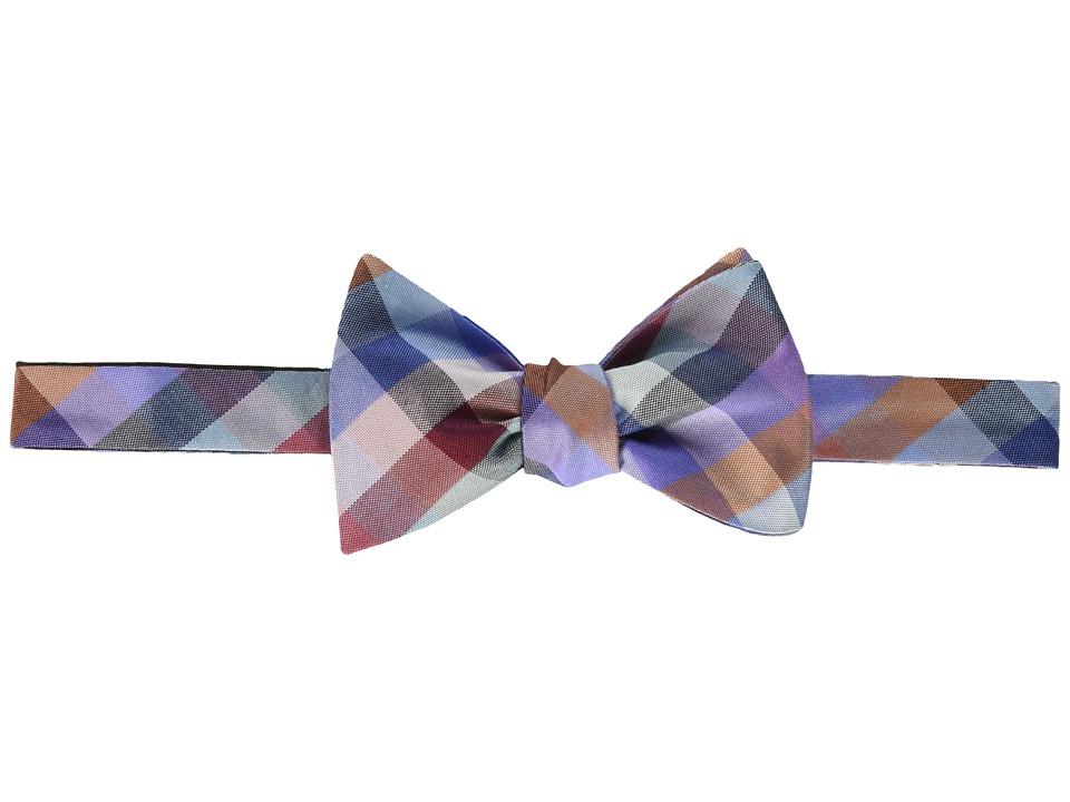 Tommy Hilfiger Super Multi Grid Self-Tie Bow (Pink) Ties