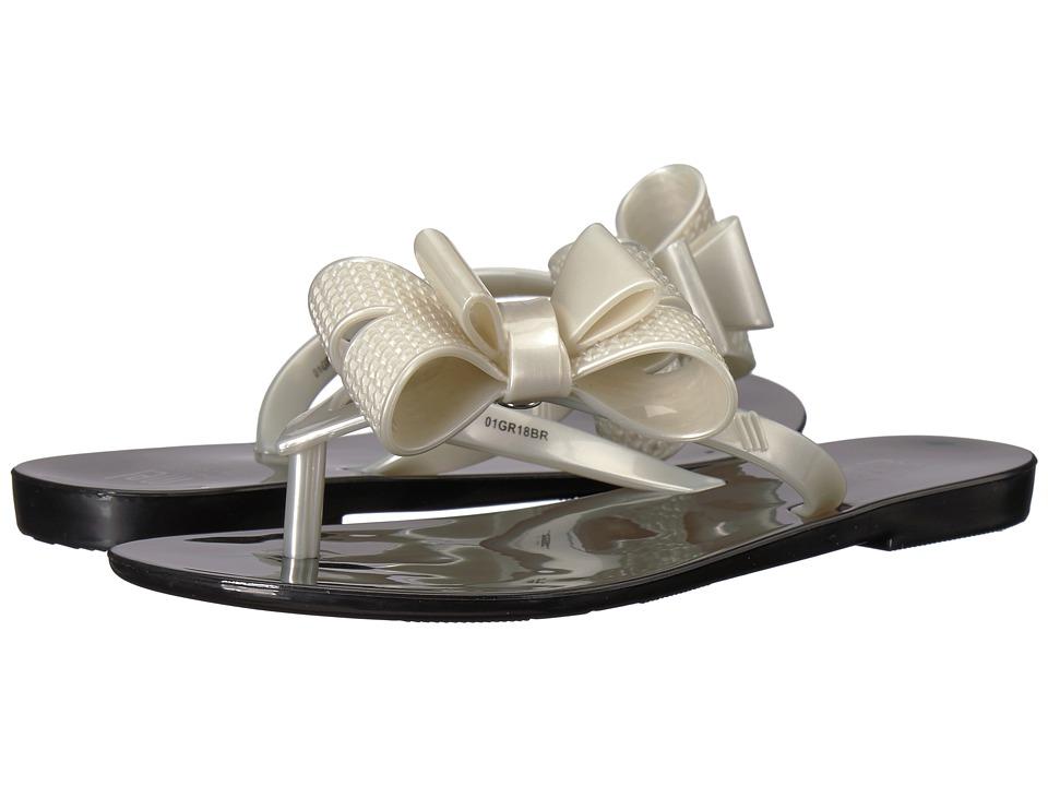 Mini Melissa - Mel Harmonic Bow V (Little Kid) (Black/White) Girls Shoes