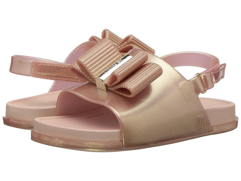Mini Melissa - Mini Beach Slide Sandal + Jason Wu (Toddler/Little Kid) (Metallic Pink) Girls Shoes