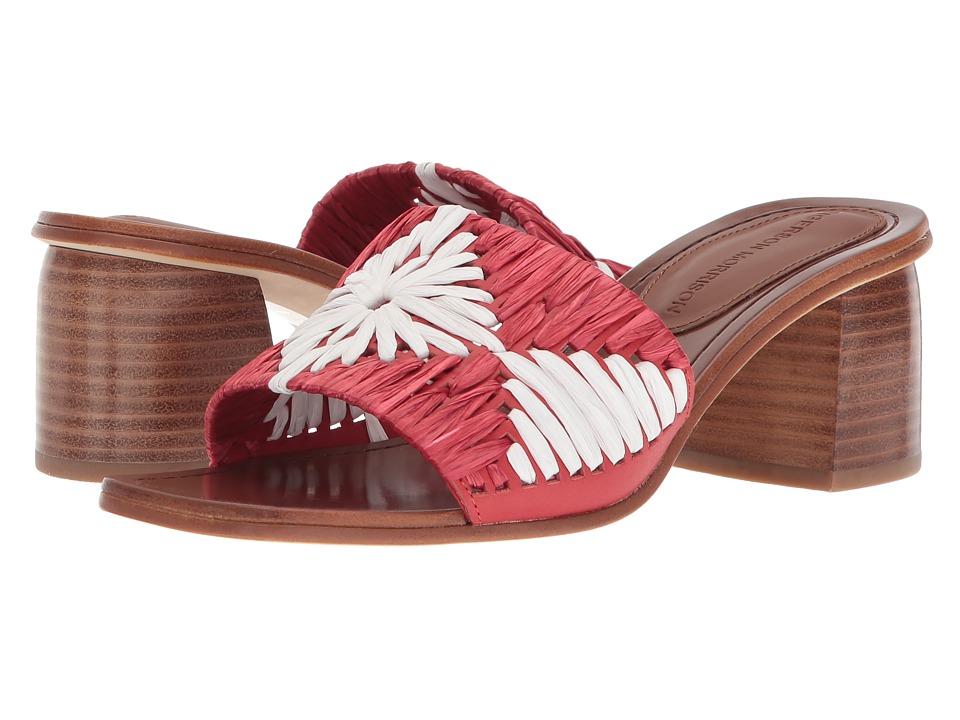 Sigerson Morrison Marnin (Red/White Raffia) Women's Shoes
