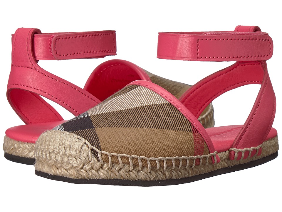 Burberry Kids - New Perth ACALY Shoe (Toddler) (Bright Peony Rose) Kids Shoes