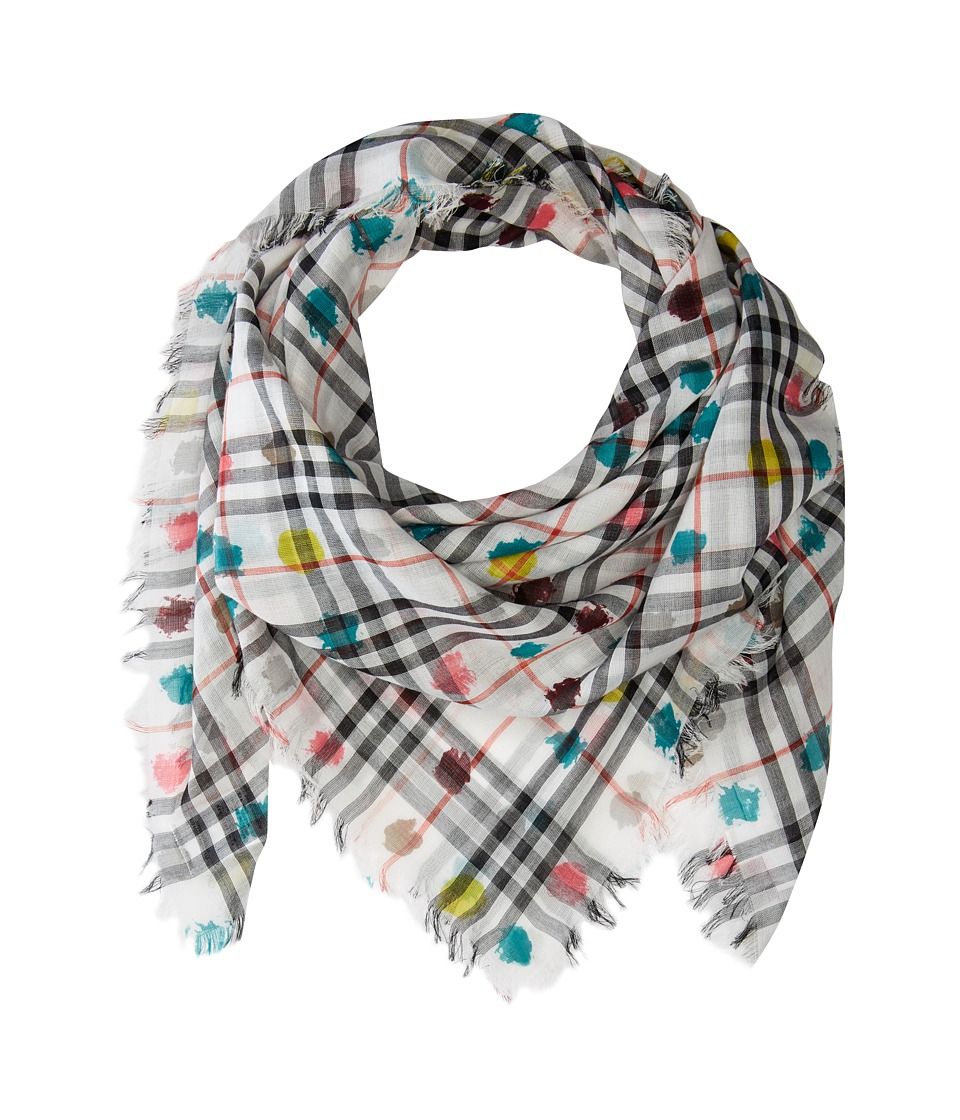Burberry Kids - Vin Check SQ W Spot AAKTX Scarf (White) Scarves
