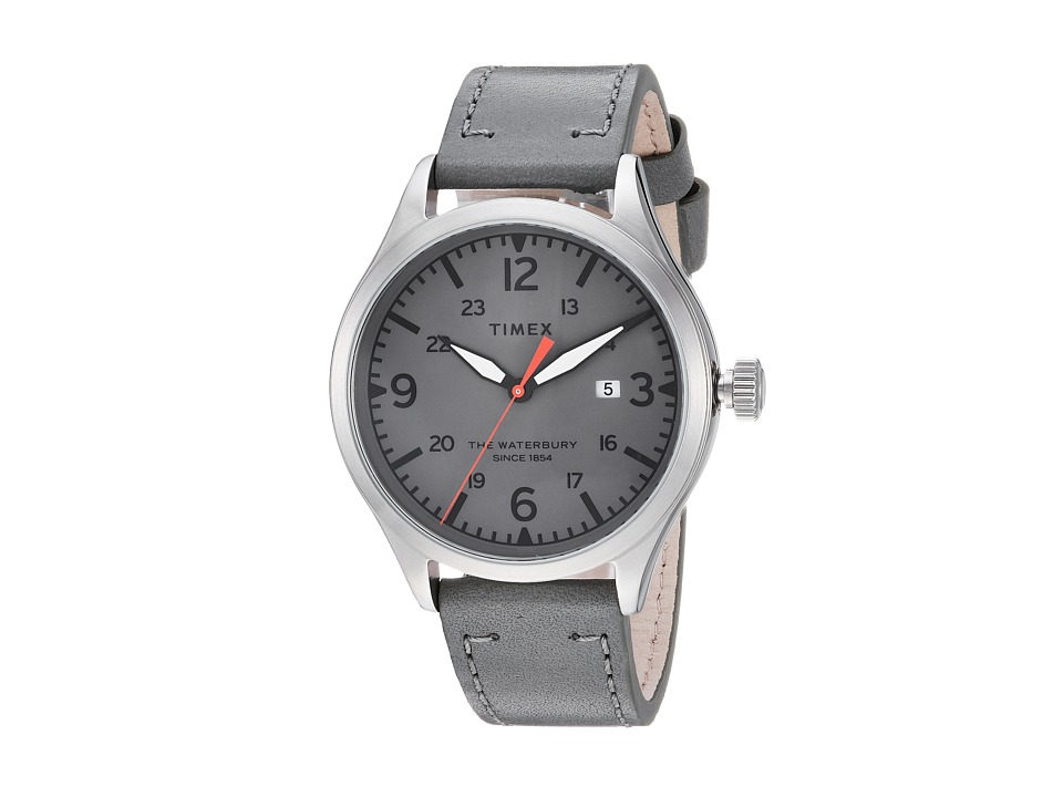 Timex - Waterbury Traditional 3-Hand with Date (Grey/Grey) Watches