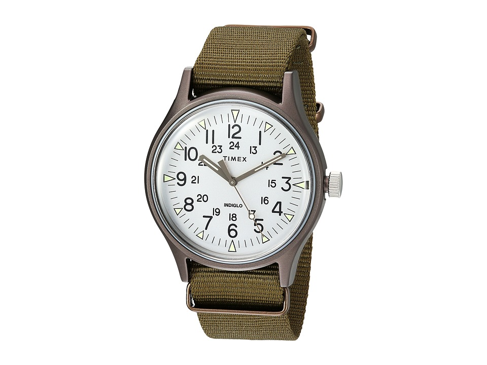 Timex - MK1 Aluminum 3-Hand (Olive/Silver) Watches