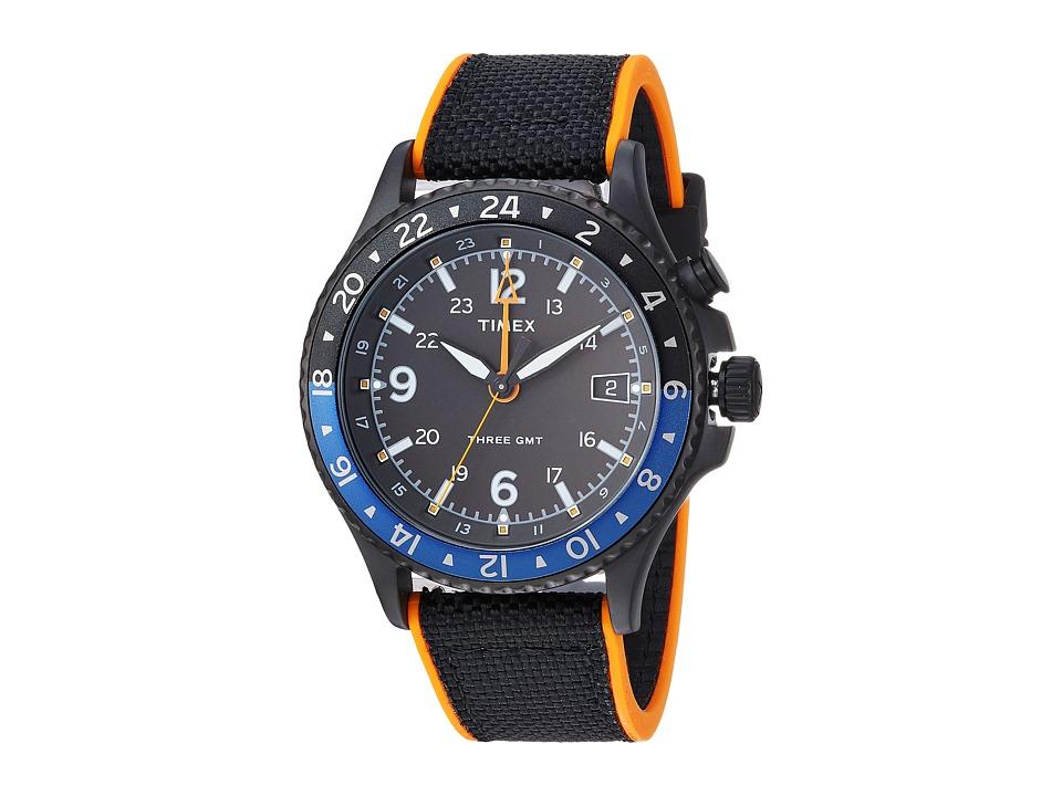 Timex Allied Three GMT (Black/Orange) Watches