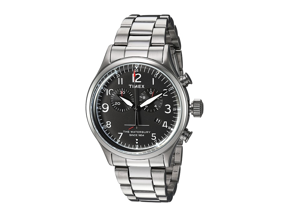 Timex - Waterbury Traditional Chrono with Bracelet (Silver/Black) Watches