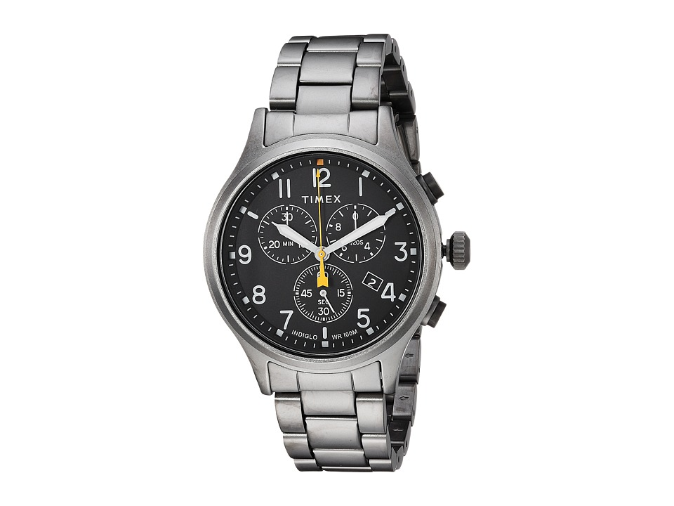 Timex - Allied Chrono Stainless Steel (Grey/Black) Watches