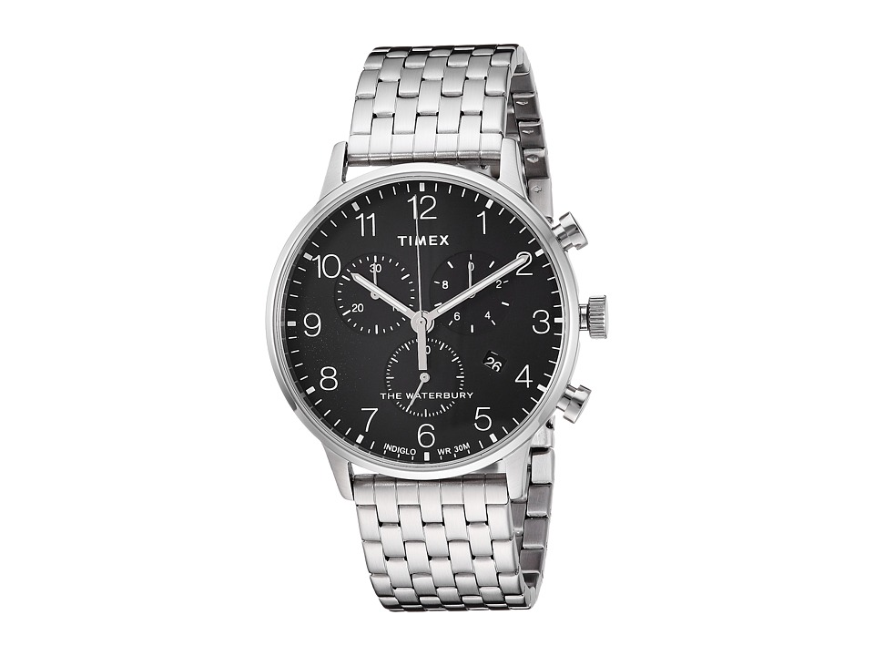 Timex Waterbury Classic Chrono Stainless Steel (Silver/Bl...