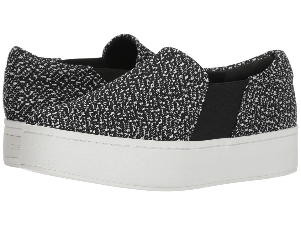 Vince Warren (Black/White Knit Fabric) Women's Shoes