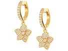 Kate Spade New York Blooming Pave Bloom Drop Huggies Earrings