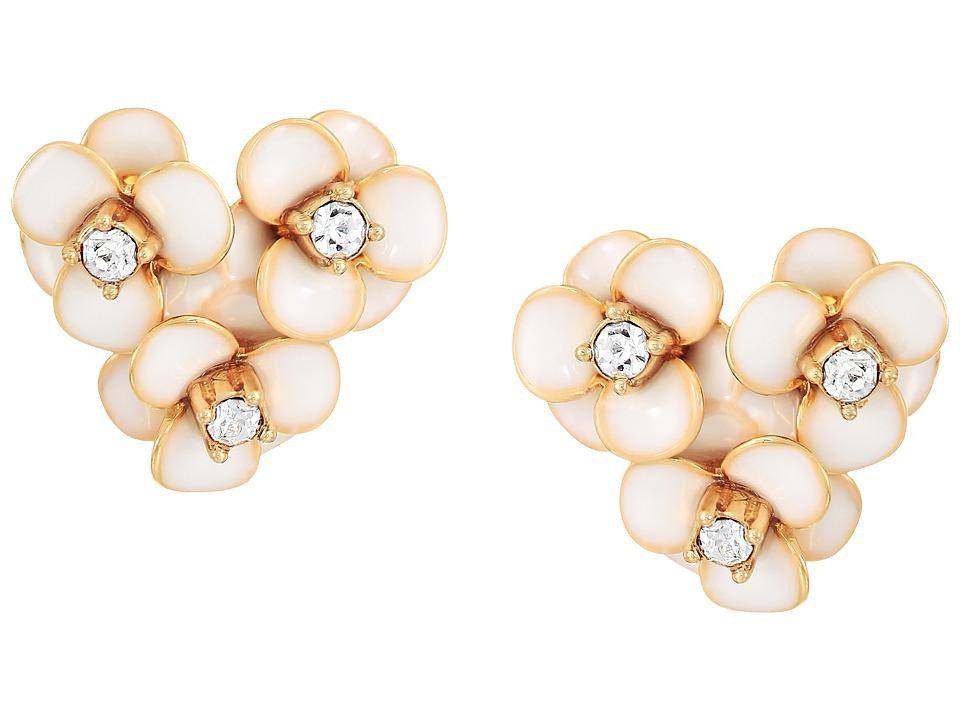 Kate Spade New York - Shine On Flower Cluster Studs Earrings (White) Earring