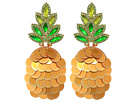 Kate Spade New York By The Pool Pineapple Statement Studs Earrings