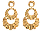Kate Spade New York Scrunched Scallops Triple Drop Earrings