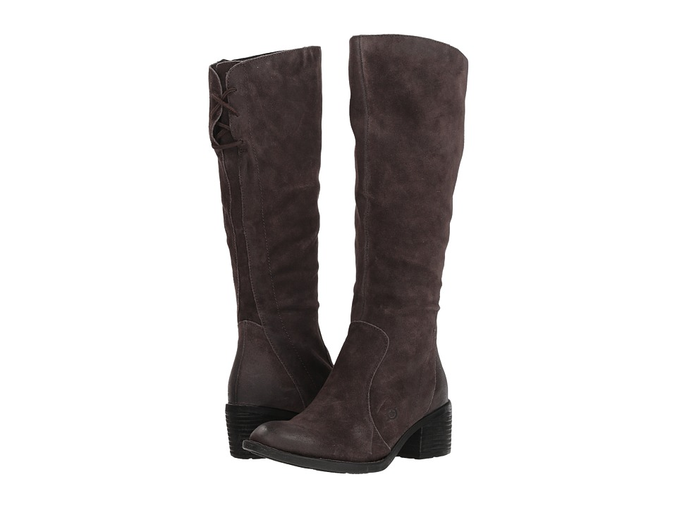 Born Felicia (Dark Grey Distressed) Women's Pull-on Boots
