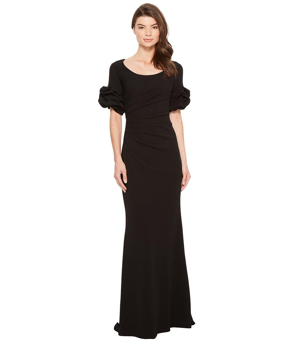 Badgley Mischka - 1/2 Sleeve Gown (Black) Womens Dress