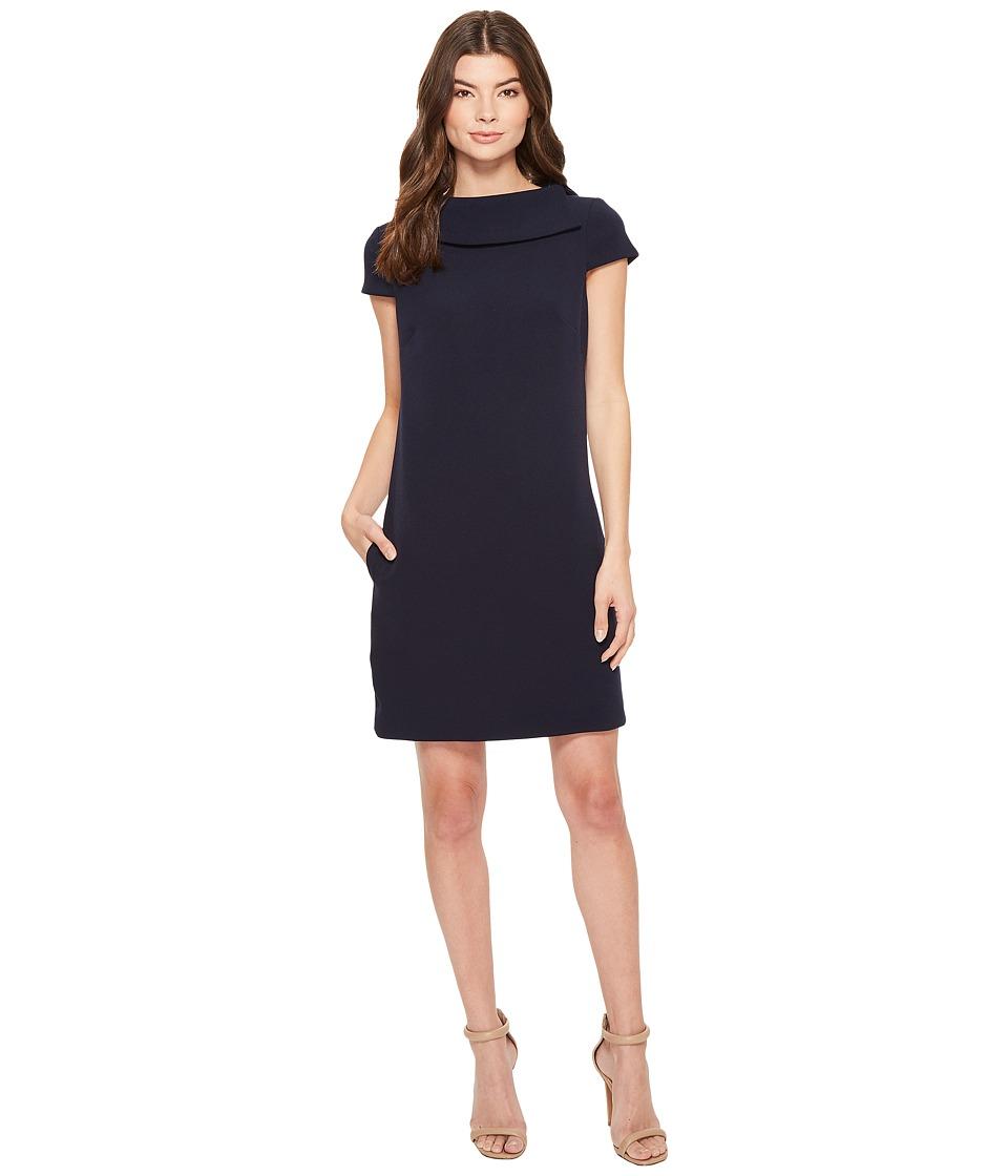 Badgley Mischka - Cap Sleeve Dress (Navy) Womens Dress