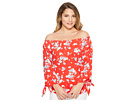 LAUREN Ralph Lauren LAUREN Ralph Lauren Petite Floral Jersey Off the Shoulder Top