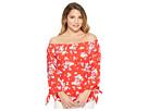 LAUREN Ralph Lauren Petite Floral Jersey Off the Shoulder Top