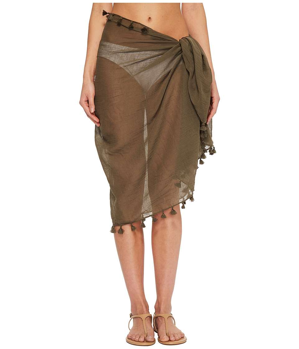 Seafolly Cotton Gauze Sarong (Dark Olive)