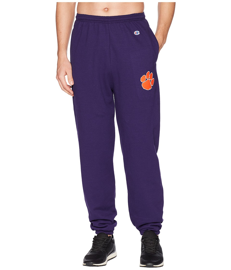 Champion College - Clemson Tigers Eco(r) Powerblend(r) Banded Pants (Champion Purple) Mens Casual Pants