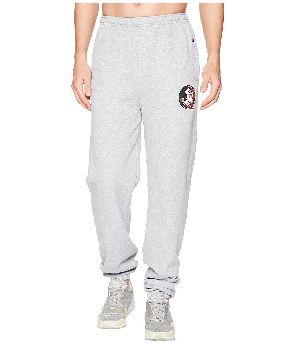 Champion College - Florida State Seminoles Eco(r) Powerblend(r) Banded Pants (Heather Grey) Mens Casual Pants