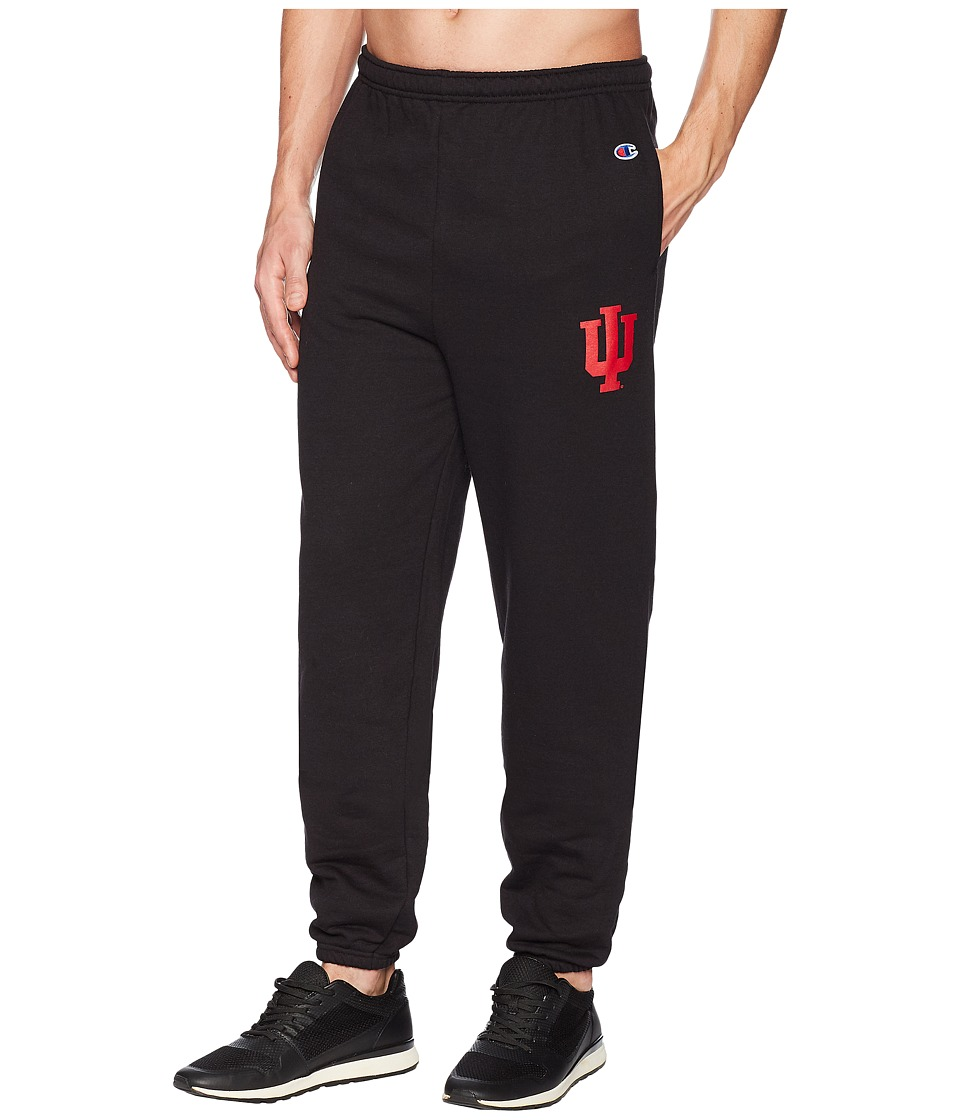 Champion College - Indiana Hoosiers Eco(r) Powerblend(r) Banded Pants (Black) Mens Casual Pants