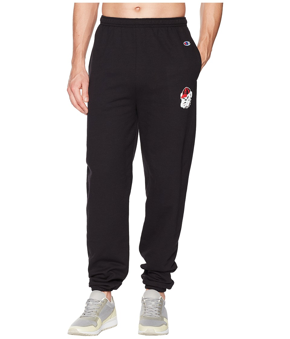 Champion College - Georgia Bulldogs Eco(r) Powerblend(r) Banded Pants (Black) Mens Casual Pants
