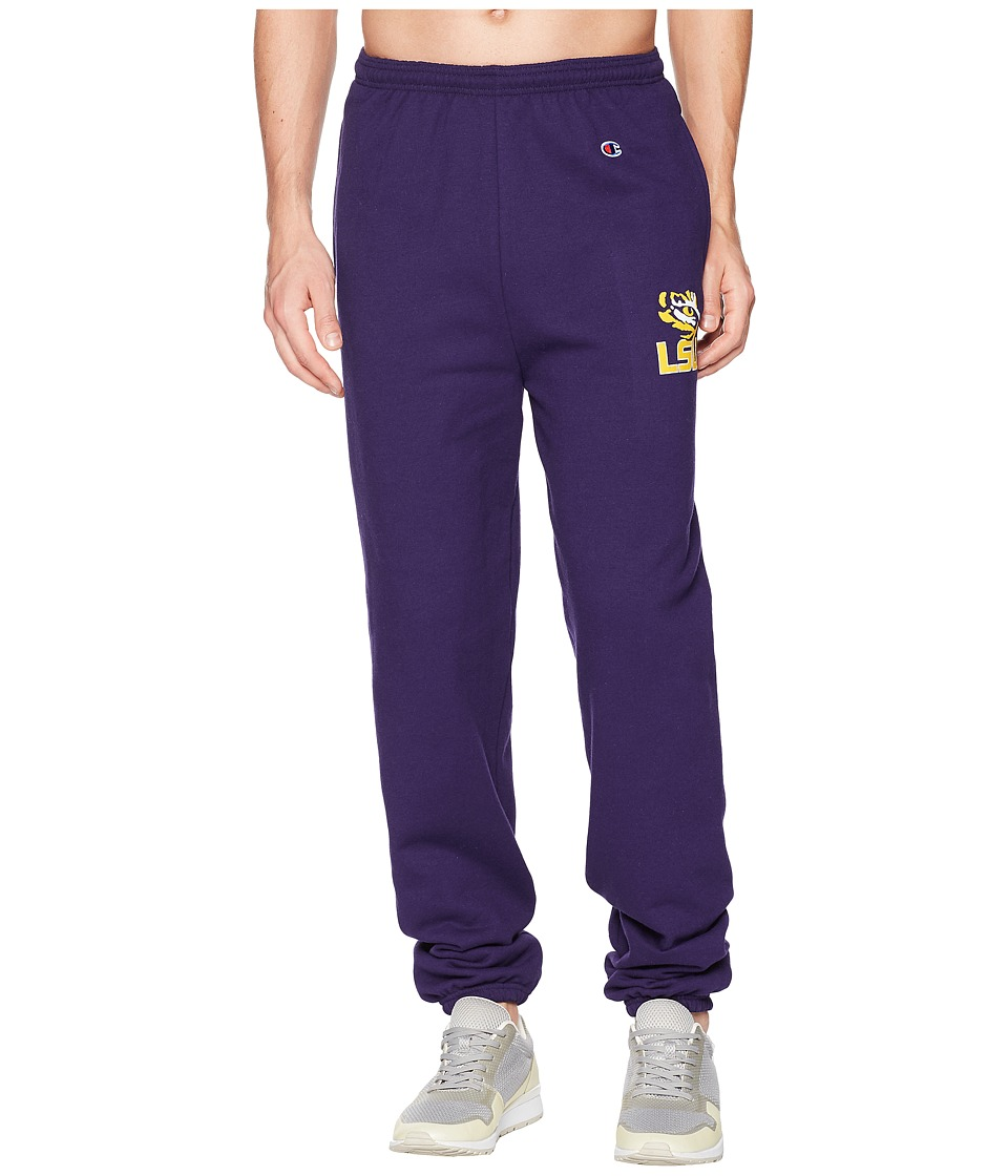 Champion College - LSU Tigers Eco(r) Powerblend(r) Banded Pants (Champion Purple) Mens Casual Pants
