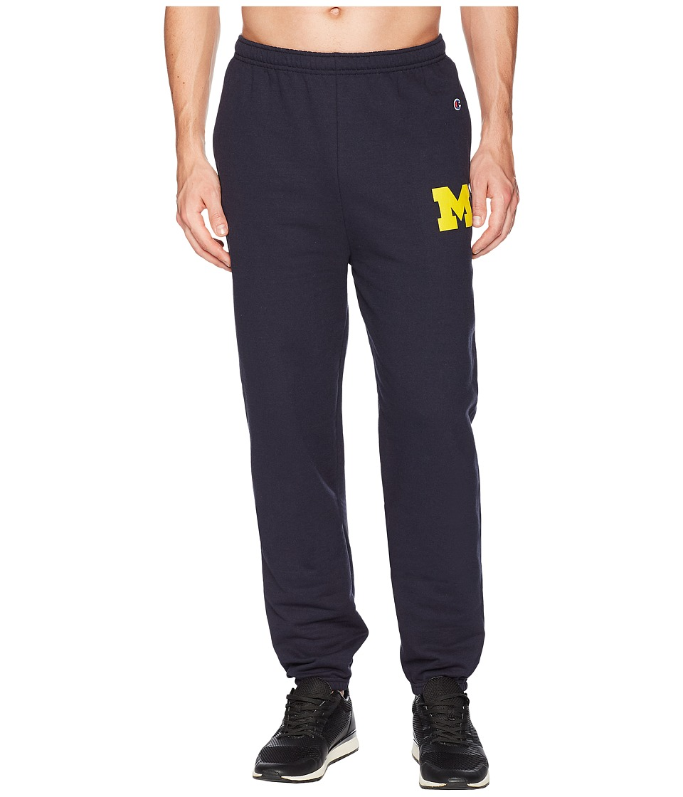 Champion College - Michigan Wolverines Eco(r) Powerblend(r) Banded Pants (Navy) Mens Casual Pants