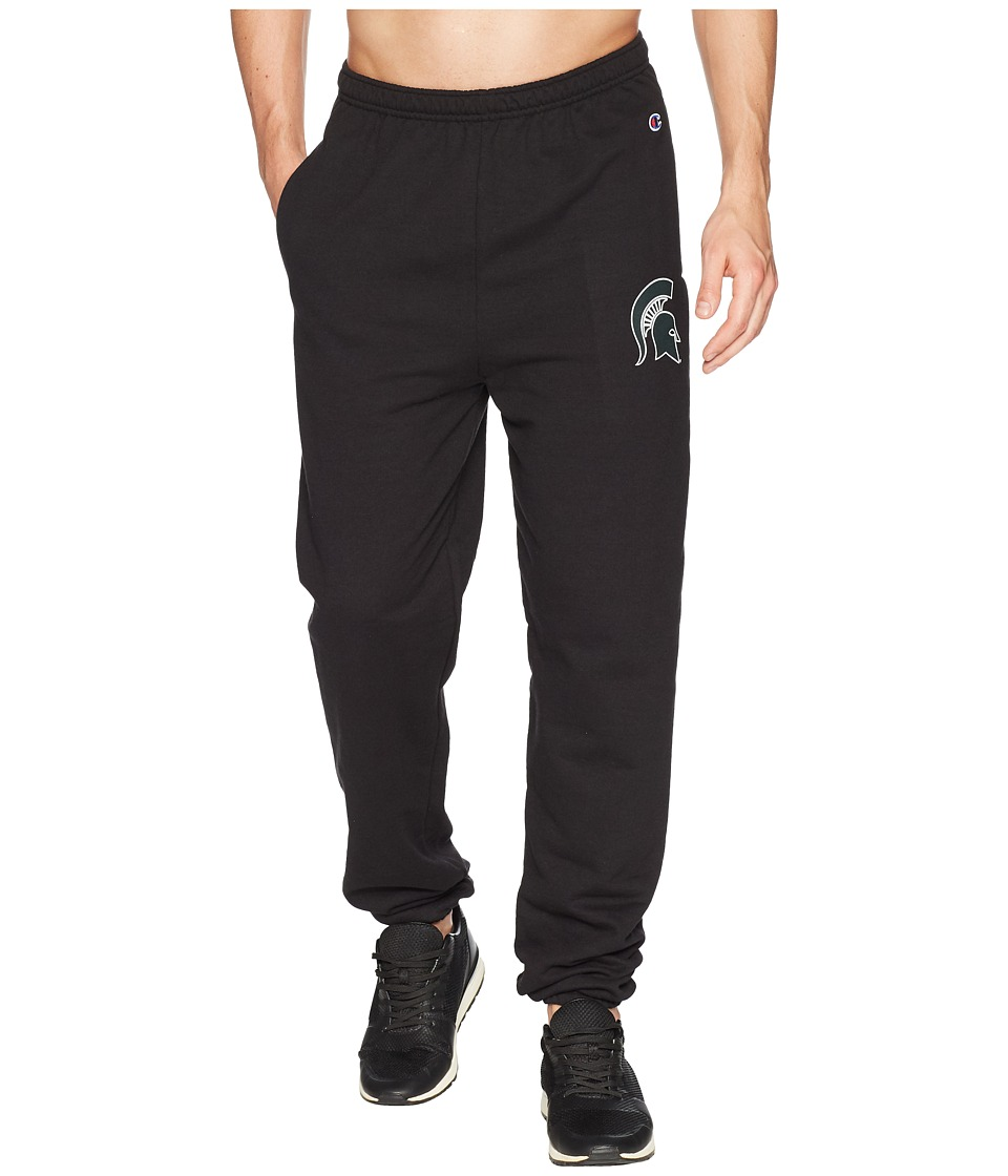 Champion College - Michigan State Spartans Eco(r) Powerblend(r) Banded Pants (Black) Mens Casual Pants