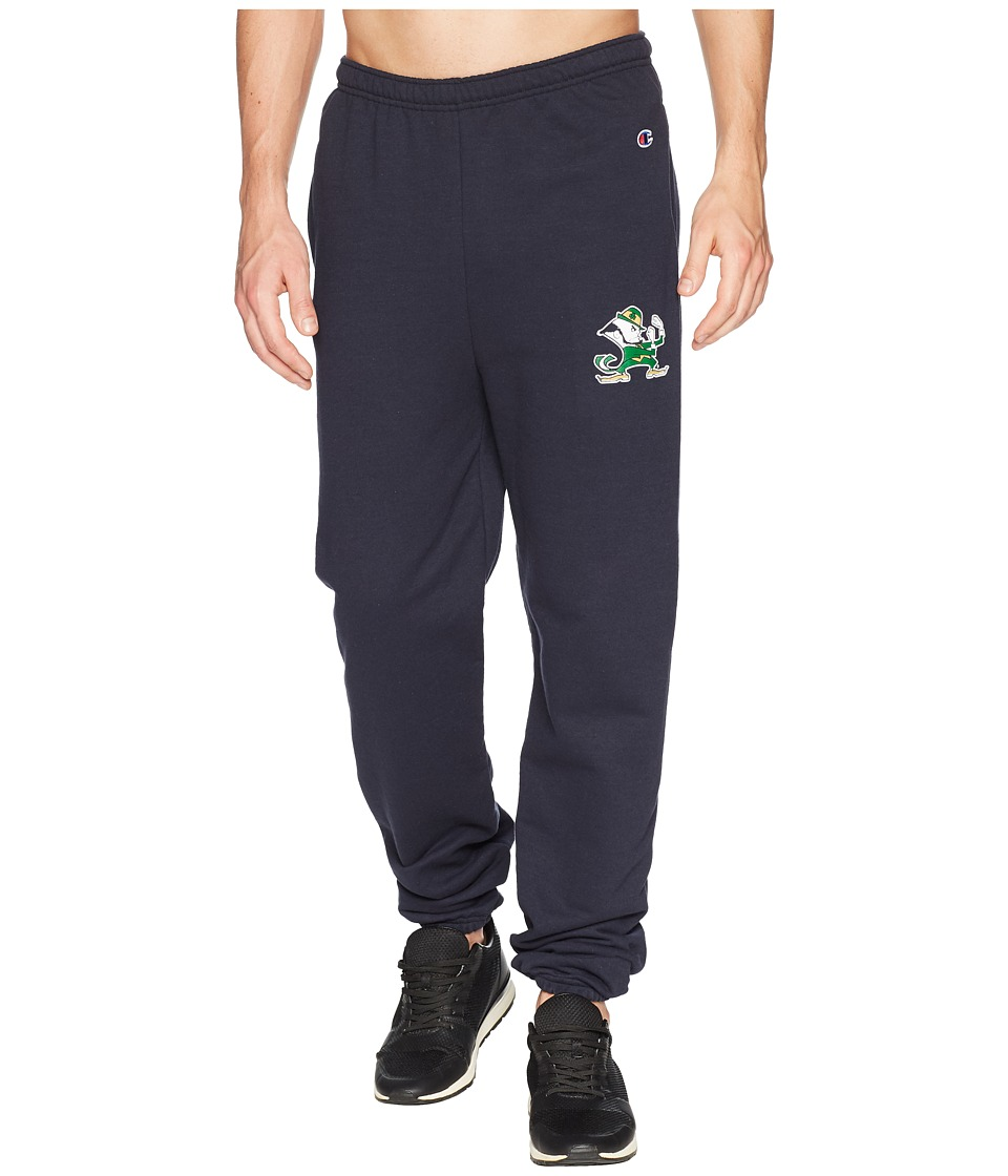 Champion College - Notre Dame Fighting Irish Eco(r) Powerblend(r) Banded Pants (Navy) Mens Casual Pants