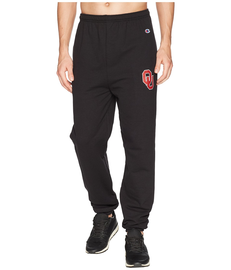Champion College - Oklahoma Sooners Eco(r) Powerblend(r) Banded Pants (Black) Mens Casual Pants