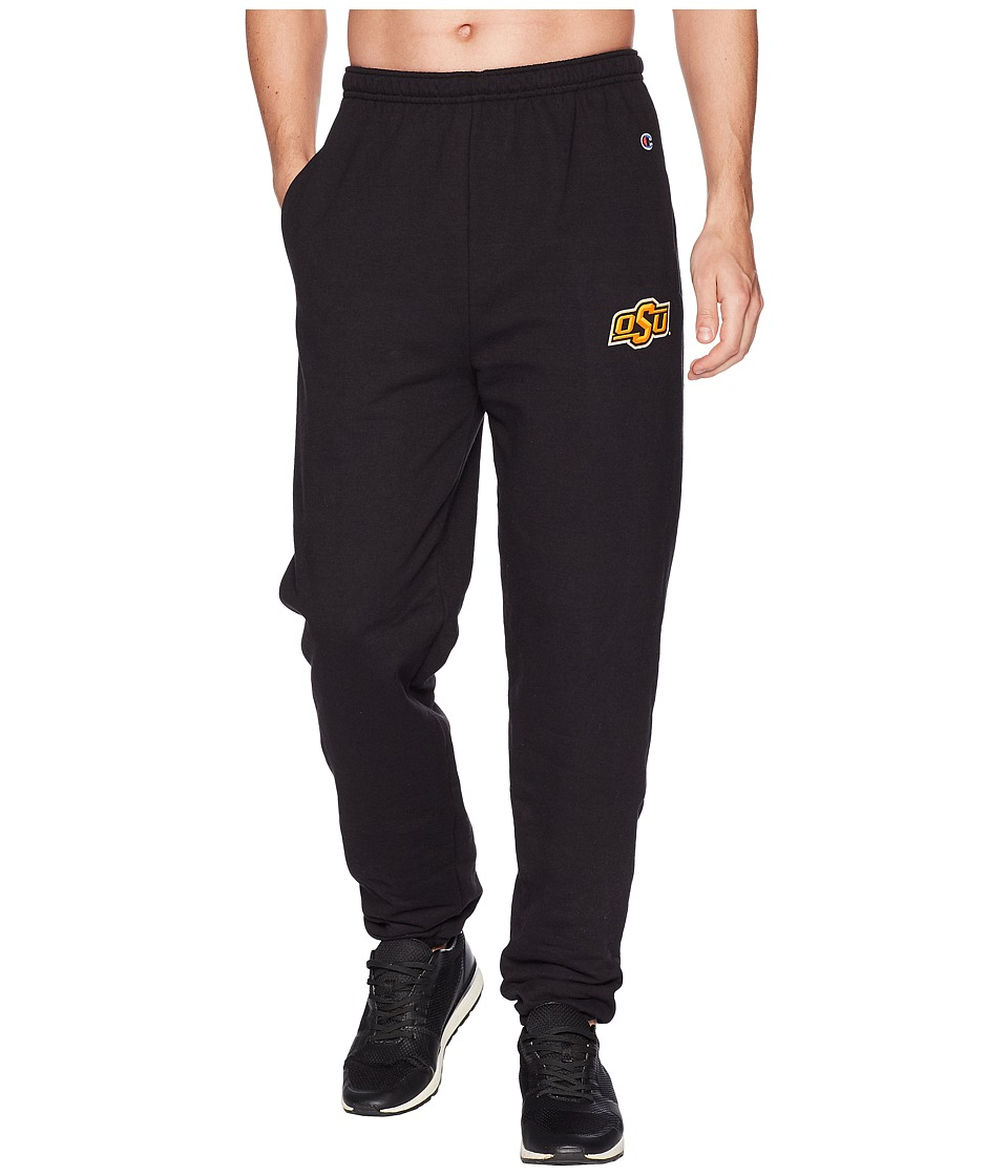 Champion College - Oklahoma State Cowboys Eco(r) Powerblend(r) Banded Pants (Black) Mens Casual Pants