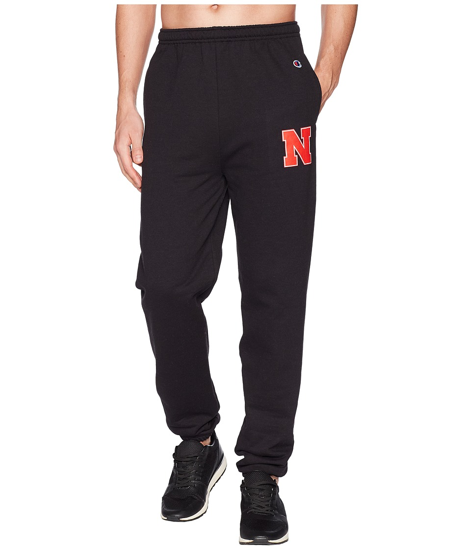 Champion College - Nebraska Cornhuskers Eco(r) Powerblend(r) Banded Pants (Black) Mens Casual Pants