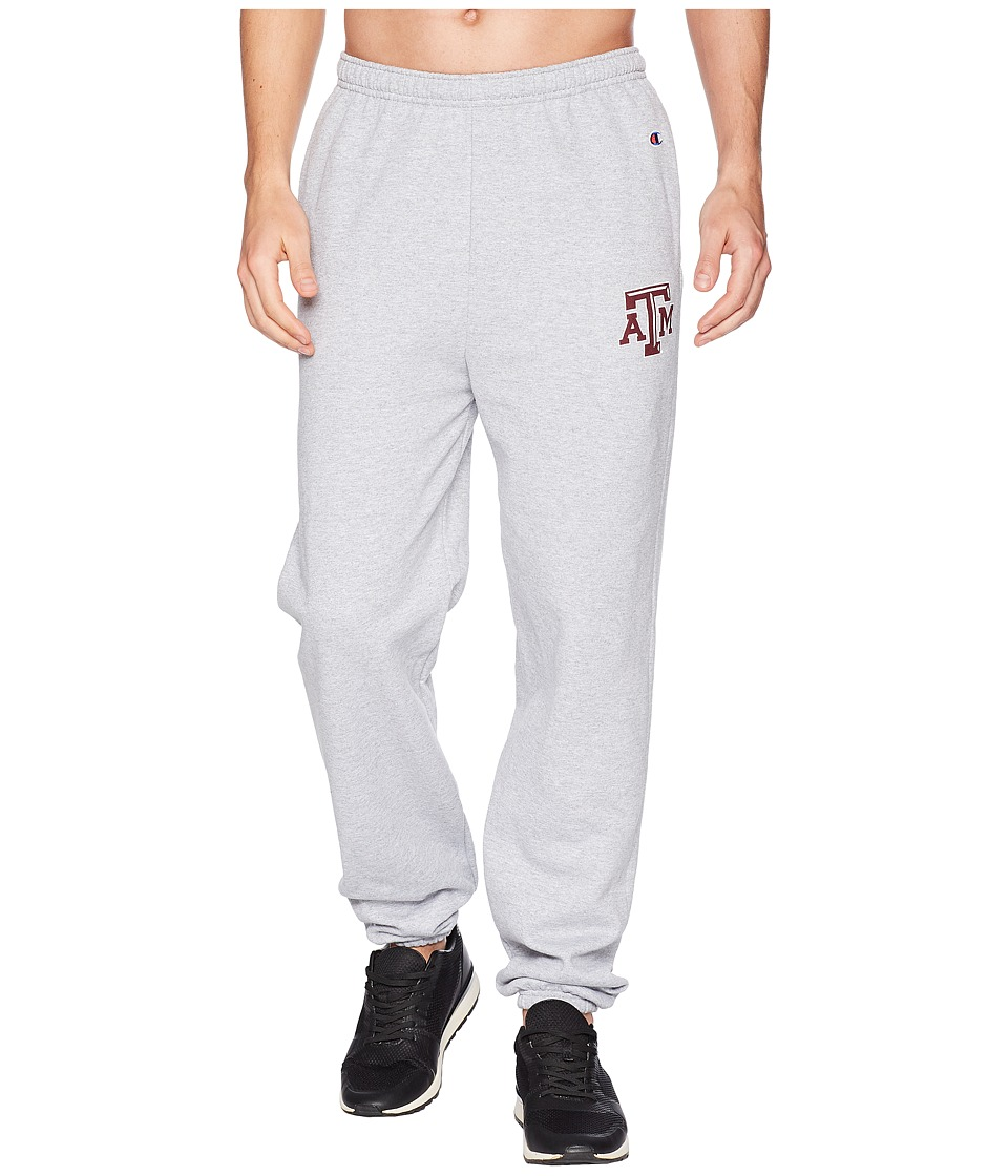 Champion College - Texas AM Aggies Eco(r) Powerblend(r) Banded Pants (Heather Grey) Mens Casual Pants