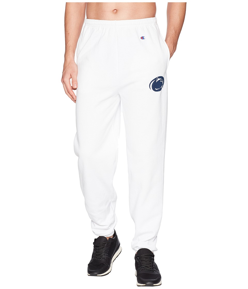 Champion College - Penn State Nittany Lions Eco(r) Powerblend(r) Banded Pants (White) Mens Casual Pants