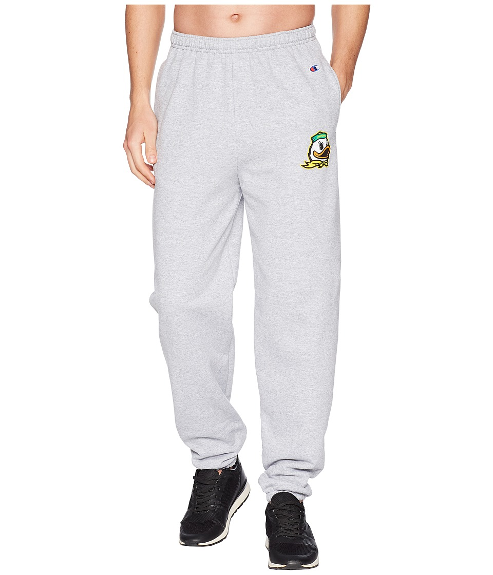 Champion College - Oregon Ducks Eco(r) Powerblend(r) Banded Pants (Heather Grey) Mens Casual Pants