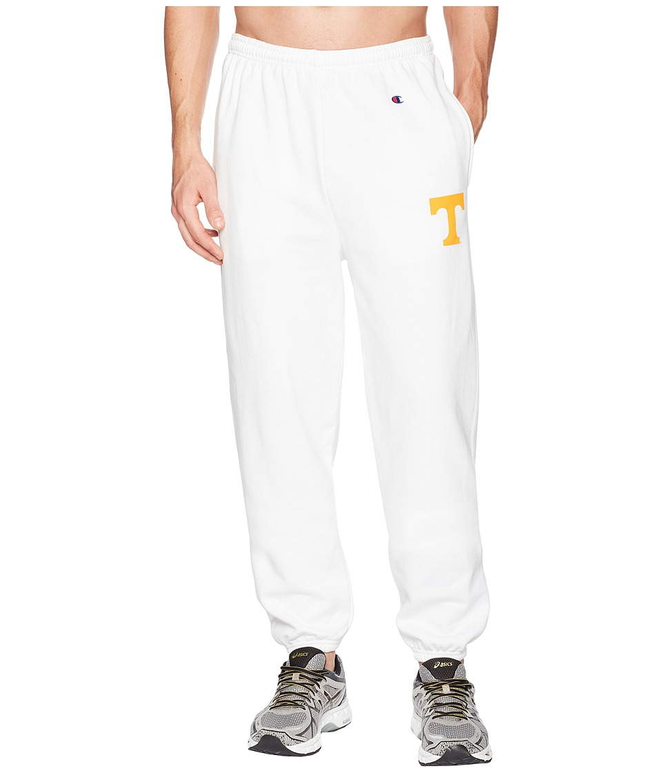 Champion College - Tennessee Volunteers Eco(r) Powerblend(r) Banded Pants (White) Mens Casual Pants