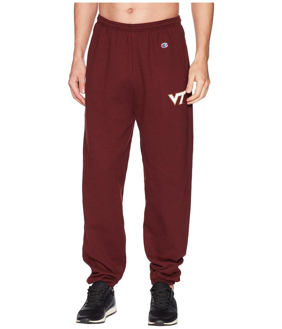 Champion College - Virginia Tech Hokies Eco(r) Powerblend(r) Banded Pants (Maroon) Mens Casual Pants