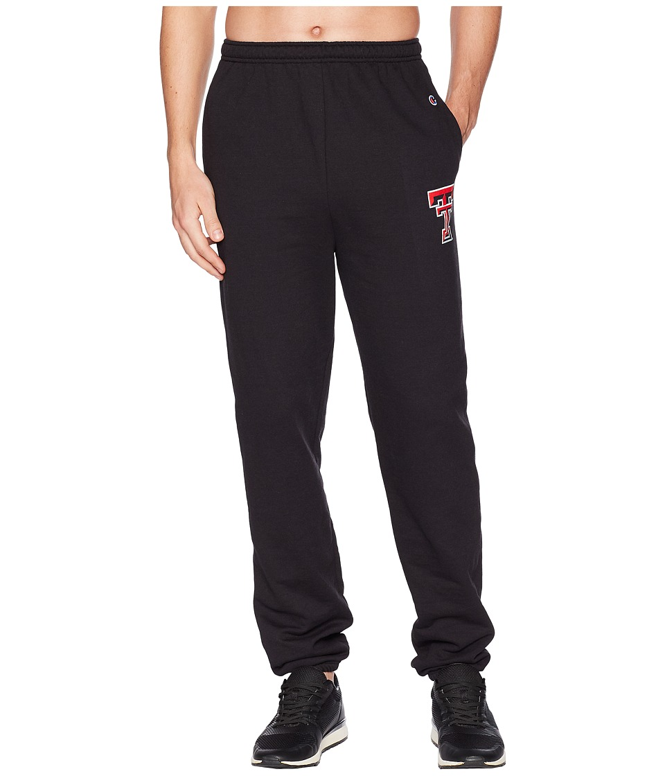 Champion College - Texas Tech Red Raiders Eco(r) Powerblend(r) Banded Pants (Black) Mens Casual Pants