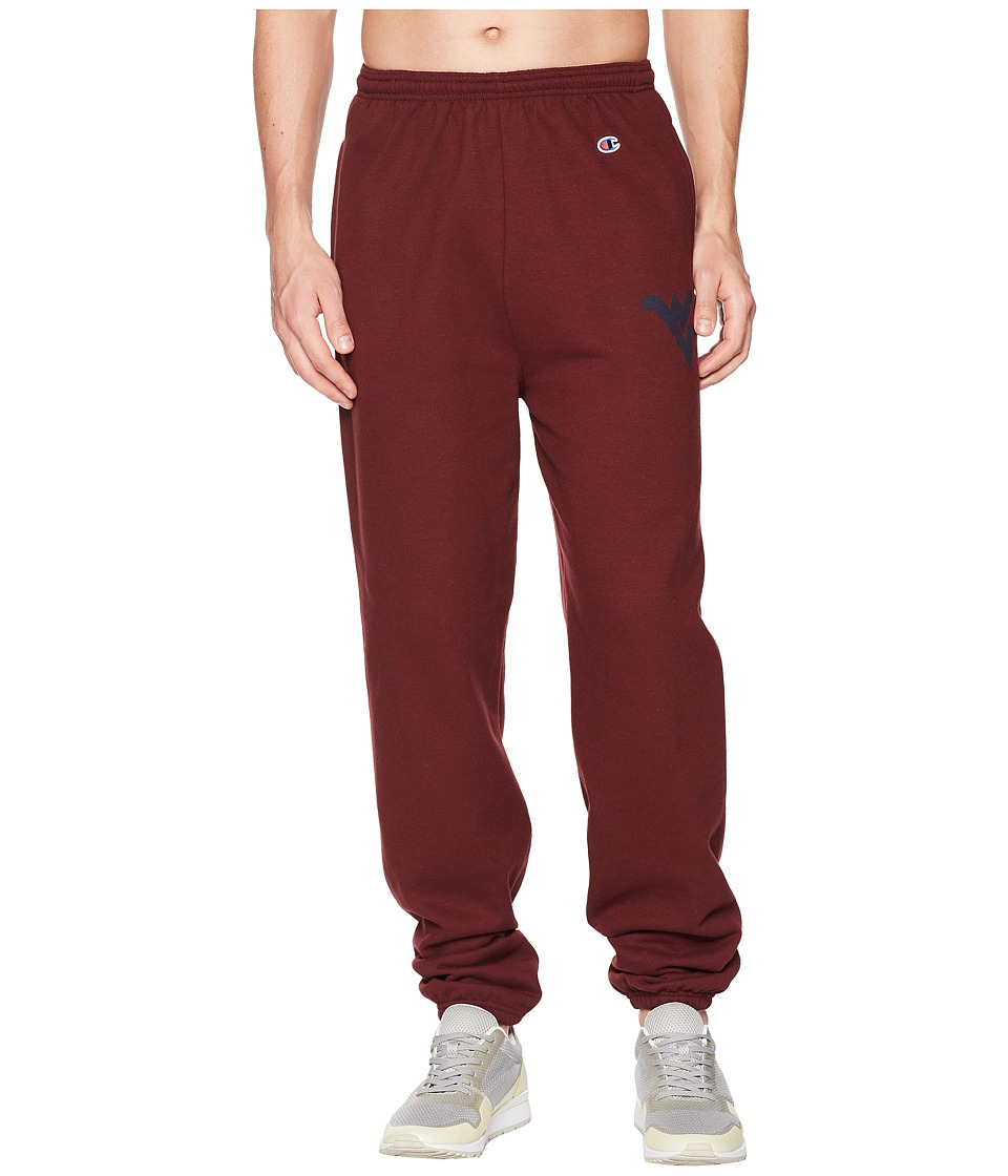 Champion College - West Virginia Mountaineers Eco Powerblend Banded Pants (Maroon) Mens Casual Pants