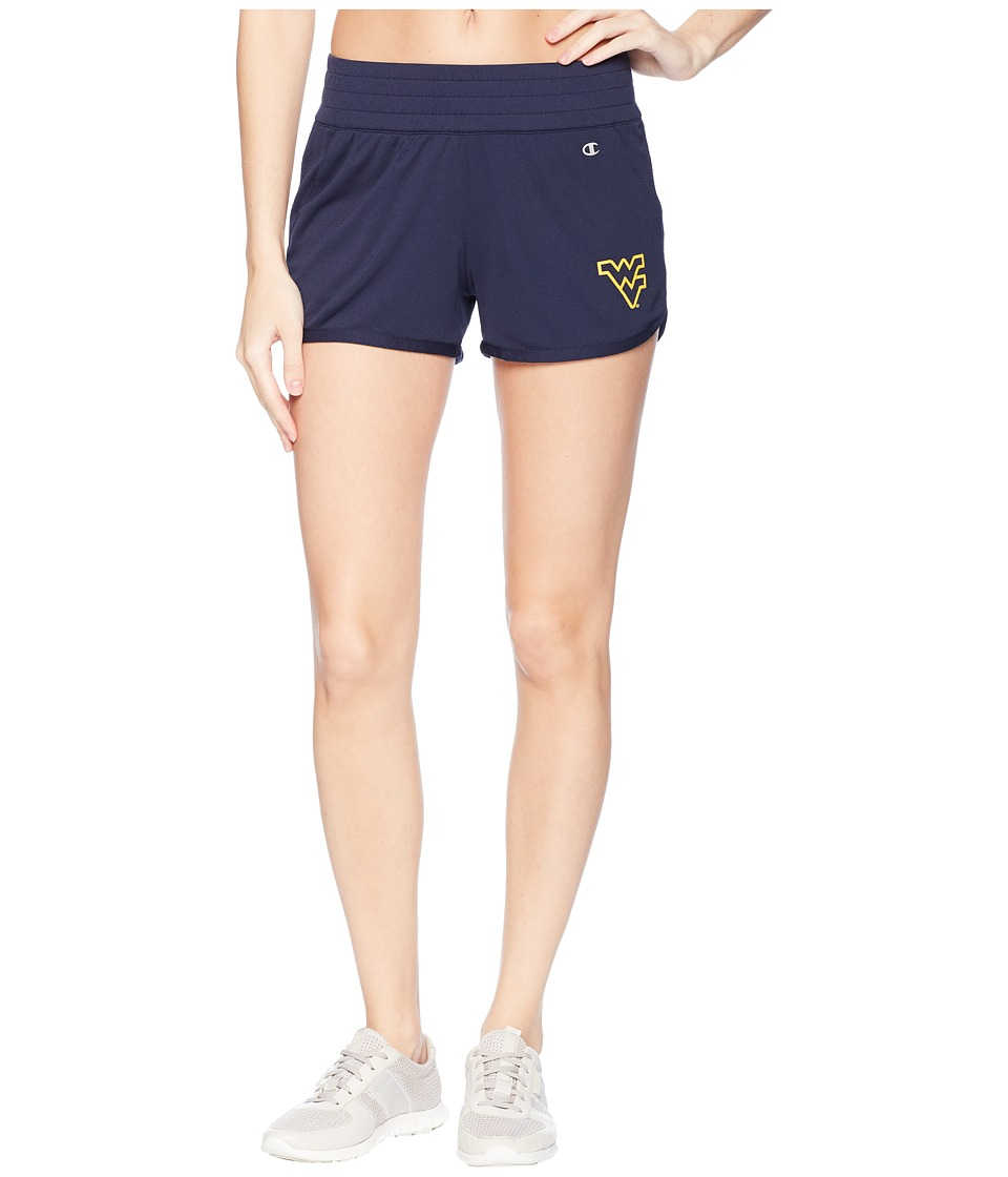 Champion College - West Virginia Mountaineers Endurance Shorts (Navy) Womens Shorts
