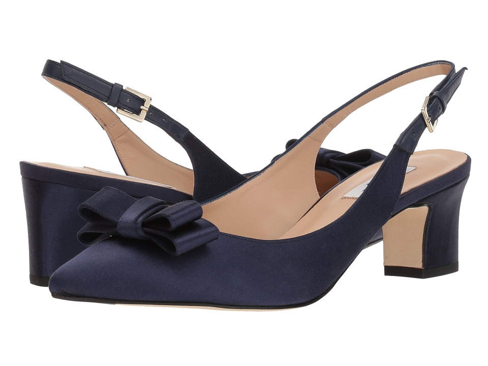 L.K. Bennett Pippa (Navy Satin) Women's Dress Sandals