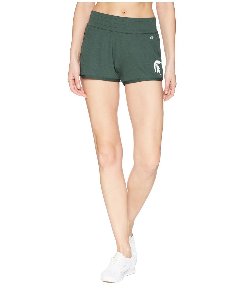 Champion College - Michigan State Spartans Endurance Shorts (Dark Green) Womens Shorts